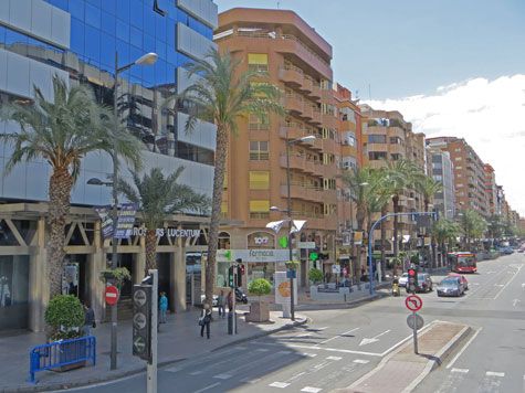 Downtown Alicante Spain
