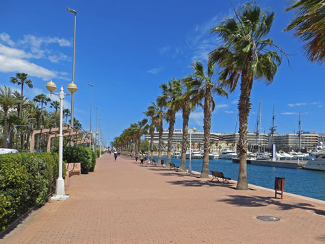 Seaside Promenade in Alicante Spain